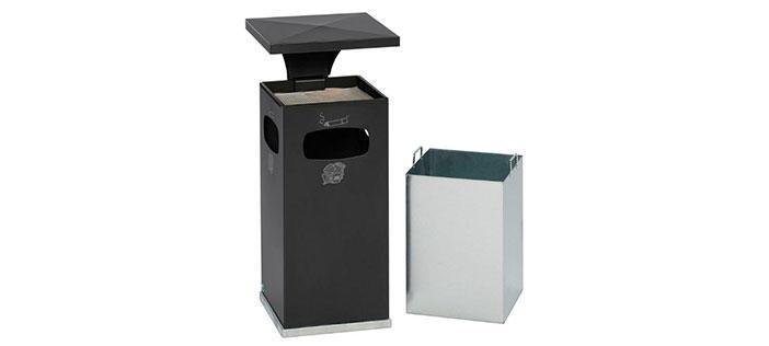 Avfall-askkopp och kombinationer