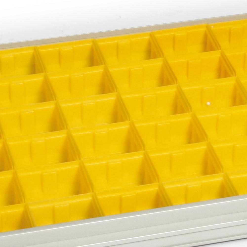 Lådinsats i plast, 950 mm brett, enkeldörr