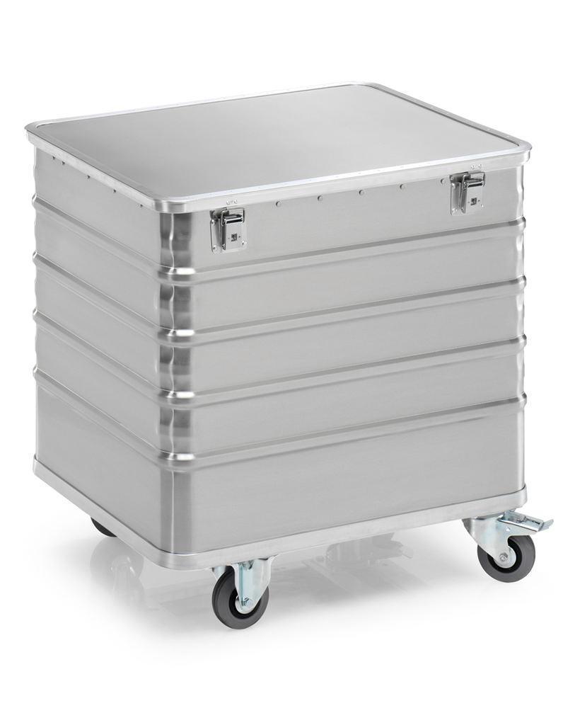 Aluminiumlåda med hjul TW 235-B, volym 225 liter, med lock