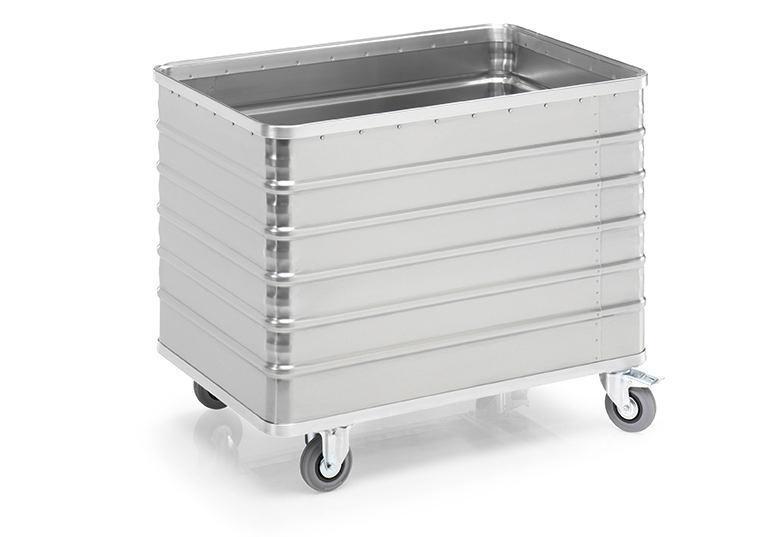 Aluminiumlåda med hjul TW 415-B, volym 415 liter, utan lock