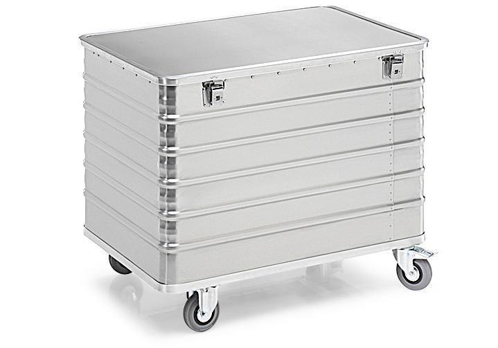 Aluminiumlåda med hjul TW 415-B, volym 415 liter, med lock