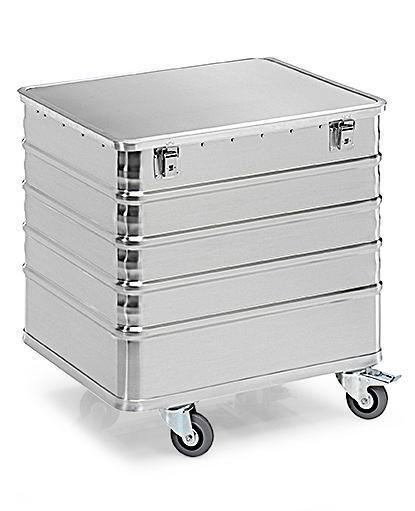Aluminiumlåda med hjul TW 235-D, volym 225 liter, med lock