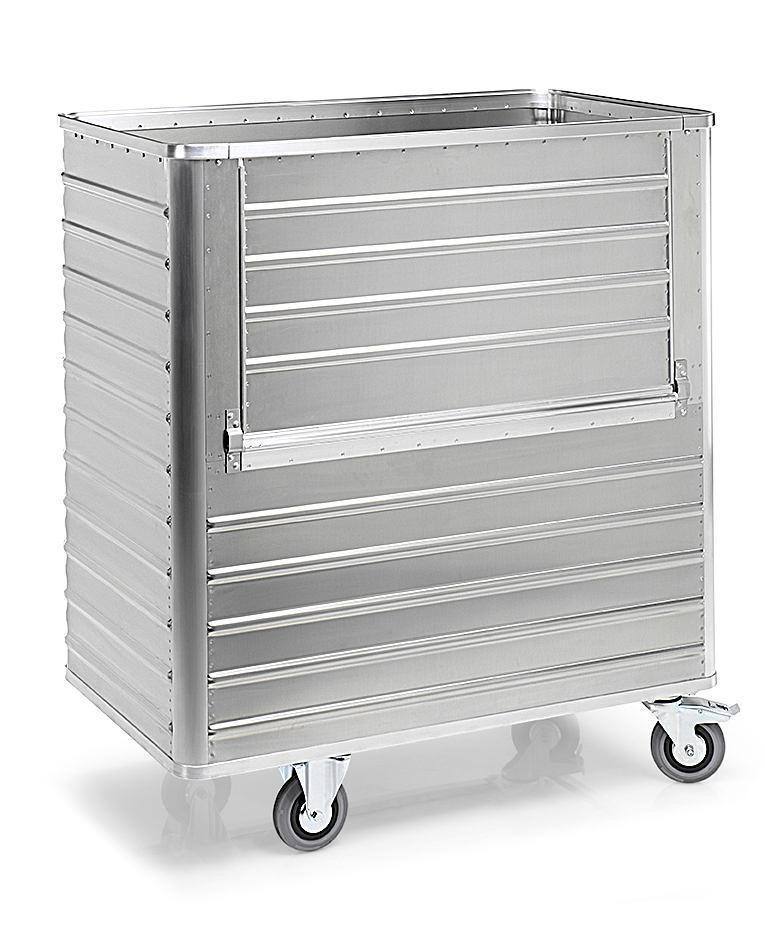 Aluminiumlåda med hjul TW 1050-B, volym 1050 liter, utan lock