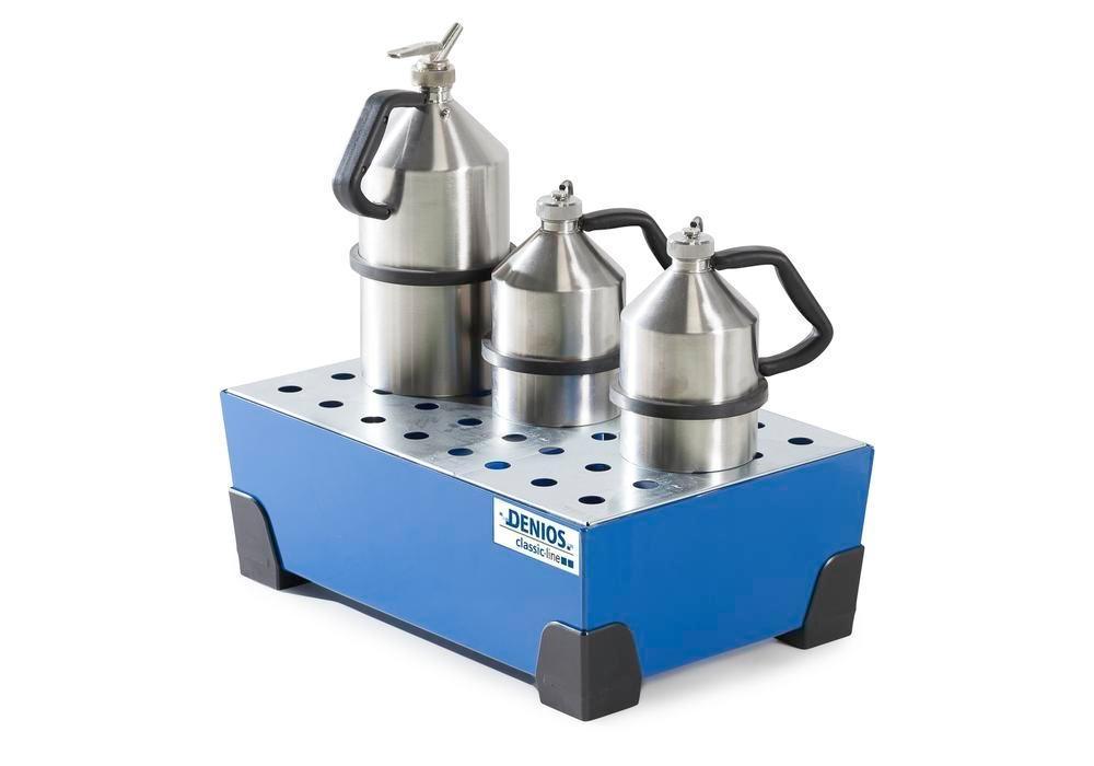 Uppsamlingskärl för småbehållare 38 l, av stål, lackerat, förzinkad hålplåt,584x392x200 classic-line