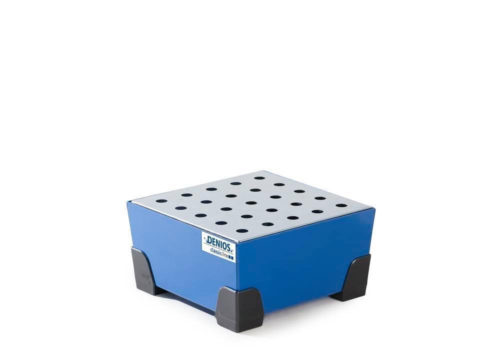 Uppsamlingskärl för småbehållare 25 l, av stål, lackerat, förzinkad hålplåt,392x392x200 classic-line