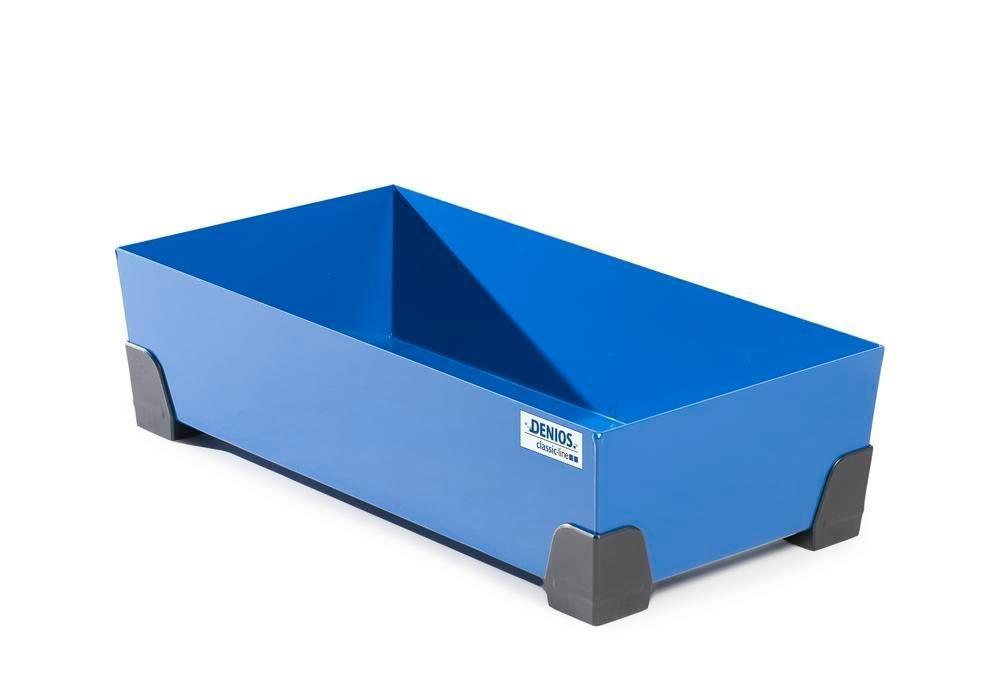 Uppsamlingskärl för småbehållare 50 liter, av stål, lackerat, 774x392x200 classic-line
