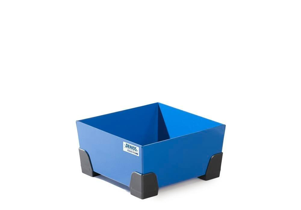 Uppsamlingskärl för småbehållare 25 liter, av stål, lackerat, 392x392x200 classic-line