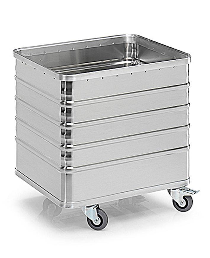 Aluminiumlåda med hjul TW 235-D, volym 225 liter, utan lock