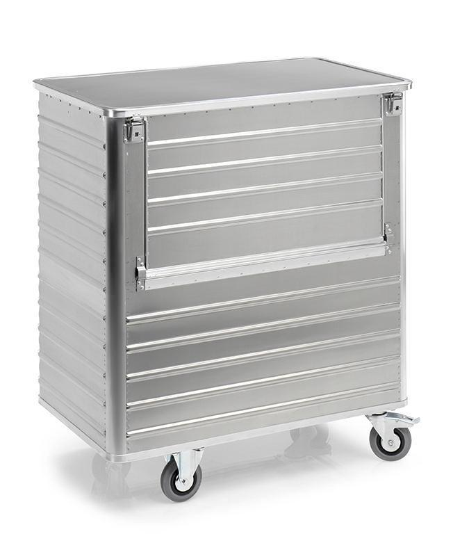 Aluminiumlåda med hjul TW 1050-B, volym 1050 liter, med lock