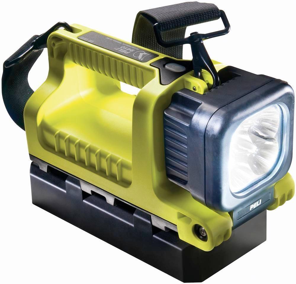 Handstrålkastare 9410, inkl. batteripack 4 NIMH, LED vridbar, gul