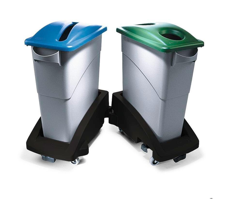 Avfallsbehållare av polyeten (PE), volym 60 liter, grå