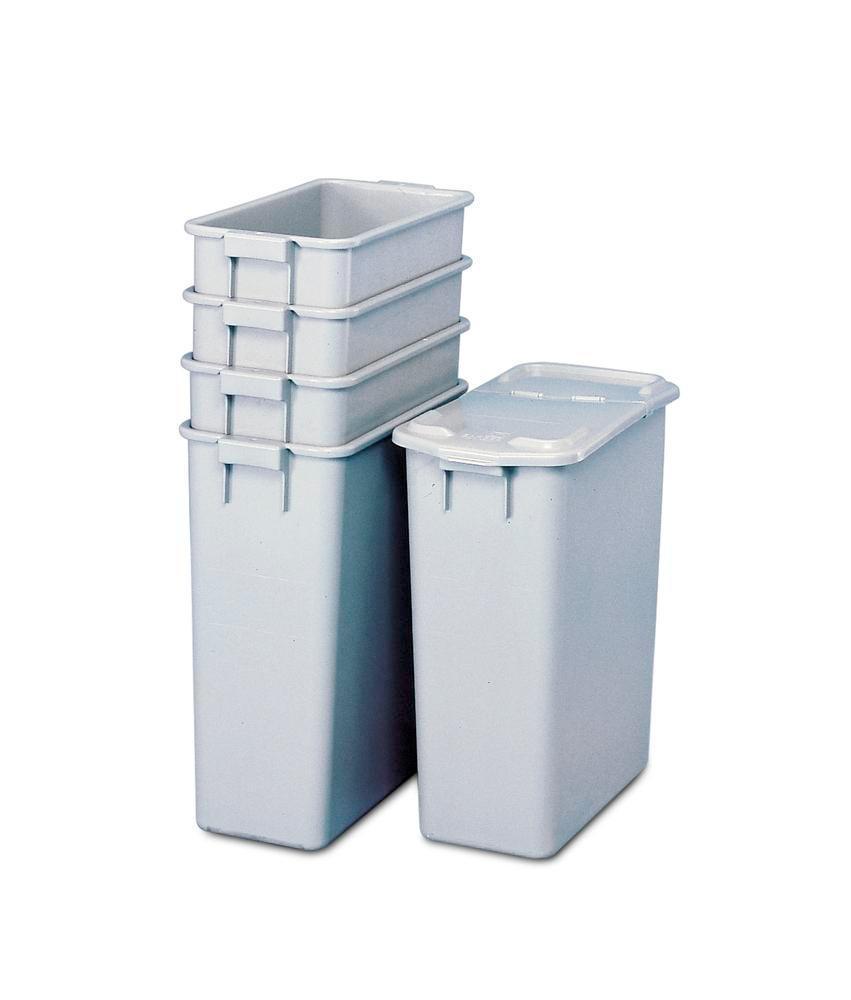 Återvinningsbehållare av polypropen (PP), för avfallsstationer och avfallsskåp, 60 liter