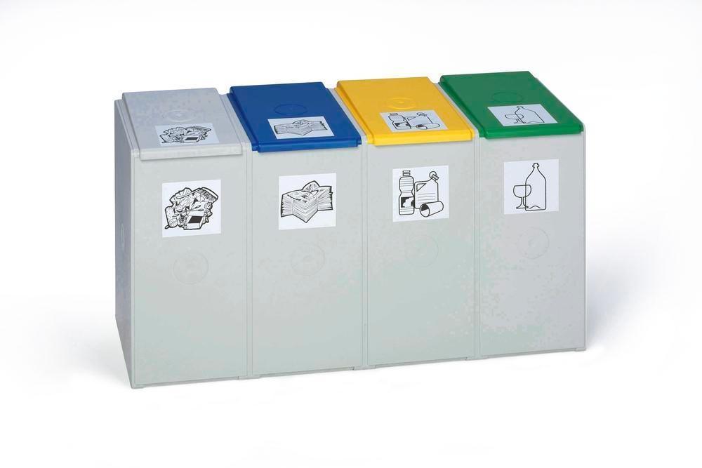 Modulsystem för avfallsåtervinning, 4 element (utan lock), volym 40 liter