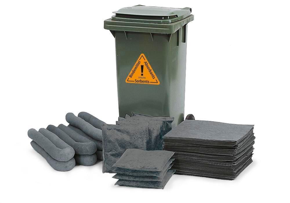 Påfyllningssats absorbenter i mobil behållare,Kemikalie, uppsugningskapacitet 120 l