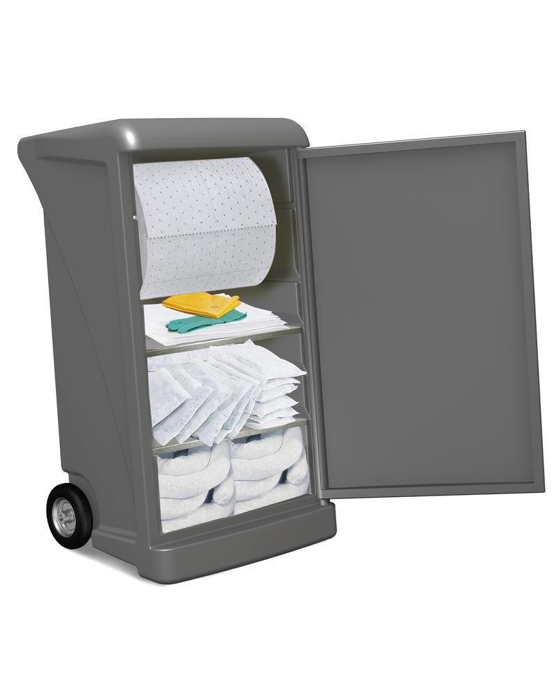 Påfyllningssats Olja för mobilt spillredskap i vagn, extra large, uppsugningskapacitet 218 liter