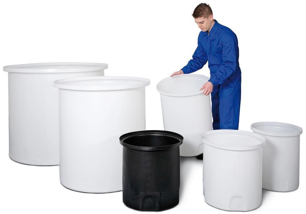 Uppsamlingsbehållare, för förvarings- och doseringsbehållare, volym 210 liter, svart