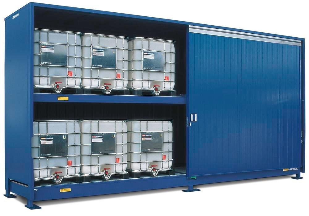 Miljöcontainer SC 2K 714.OST-ISO B, för förvaring av miljöfarliga ämnen, med skjutdörrar