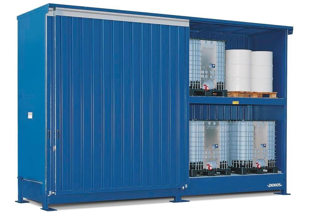 Miljöcontainer SC 2K 514.OST-ISO B, för förvaring av miljöfarliga ämnen, med skjutdörrar