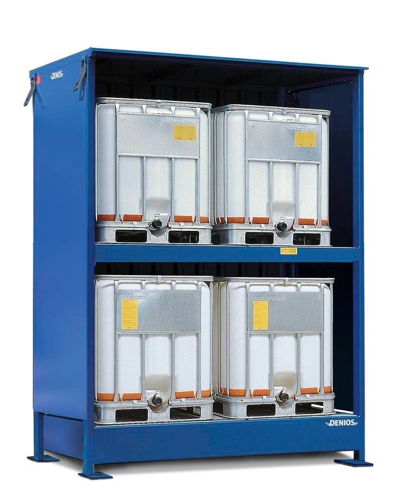 Miljöcontainer SC 2K 214.O, med öppen front, för 4 IBC