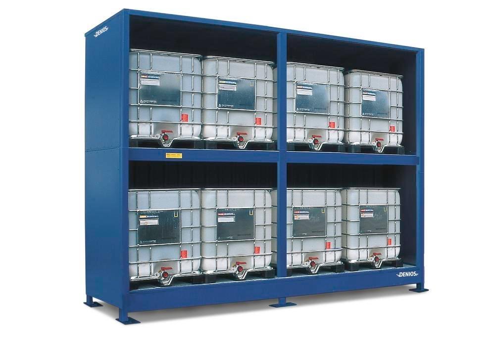 Miljöcontainer SC 2K 514.O, med öppen front, för 8 IBC