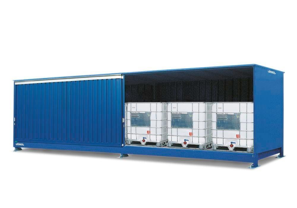 Miljöcontainer SC 1K 714.OTE-ISO A, för förvaring av brandfarliga ämnen, med skjutdörrar