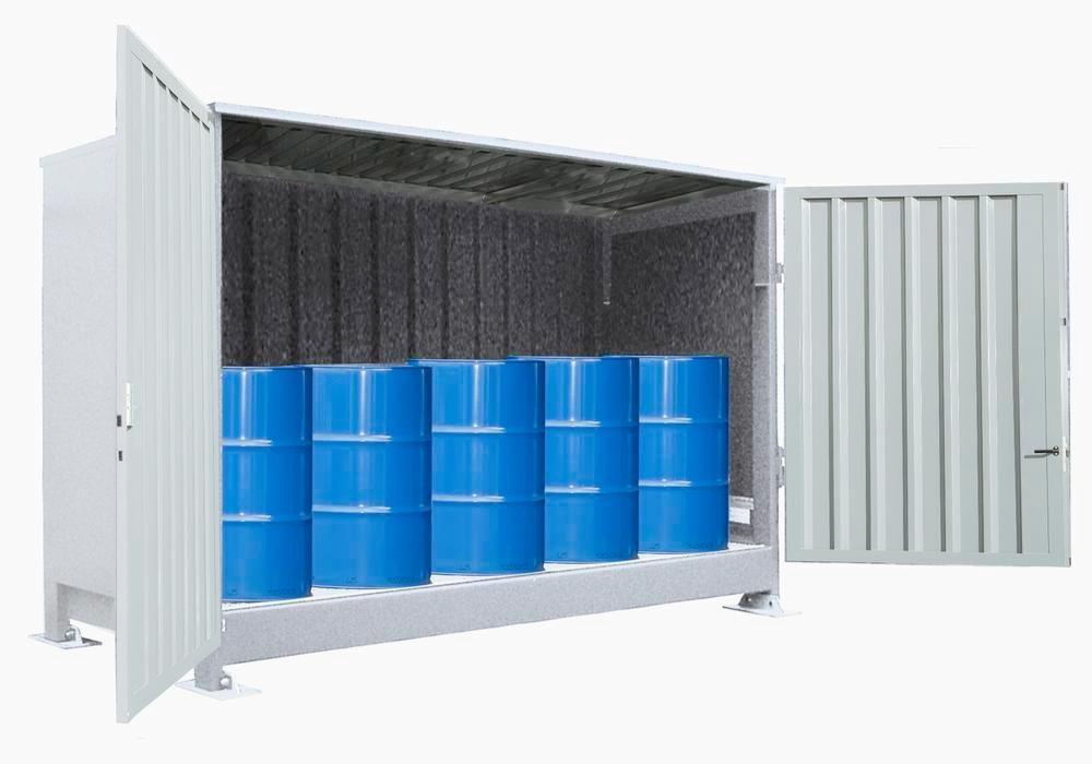 Miljöcontainer SC 1K 214.O, med pardörrar, för 2 IBC