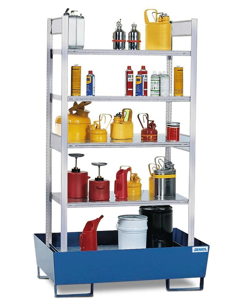 Uppsamlingskärl RPF 1060, för Hyllställ, för brandf. ämnen, lack. uppsamlingskärl, 4 förz. hyllplan