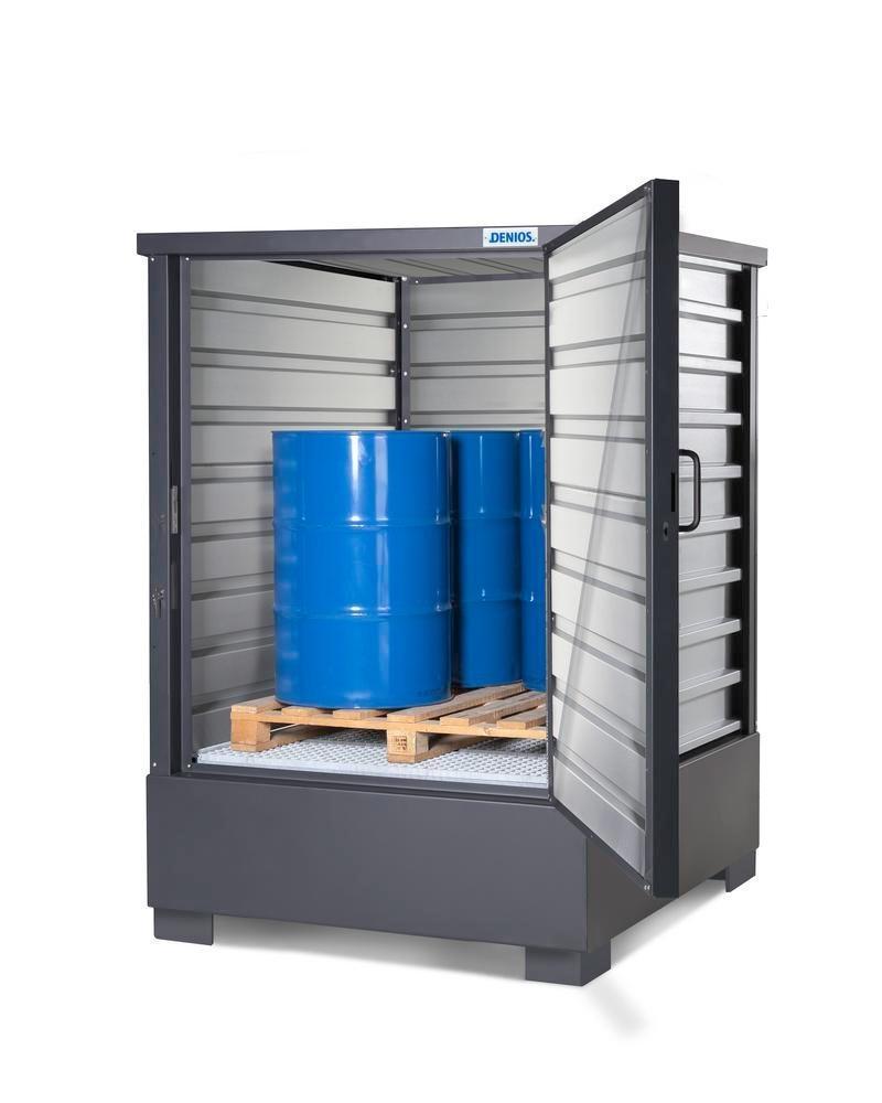 SolidMaxx Fatskåp Typ C 1.1, förzinkad, för 4 fat à 200 Liter eller 1 IBC à 1000 Liter