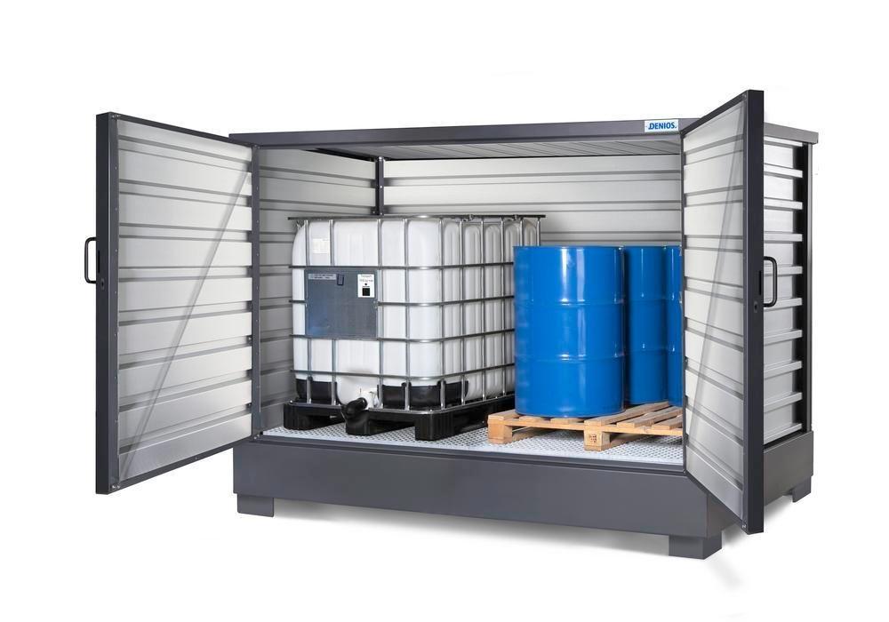 SolidMaxx Fatskåp C 2.1, förzinkad, för 8 fat à 200 Liter eller 2 IBC à 1000 Liter
